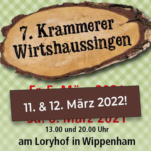 7. Krammerer Wirtshaussingen -neuer Termin: 11. & 12. März 2022!